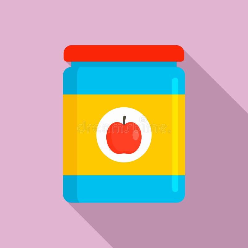Icona del barattolo del giocattolo di Apple, stile piano royalty illustrazione gratis