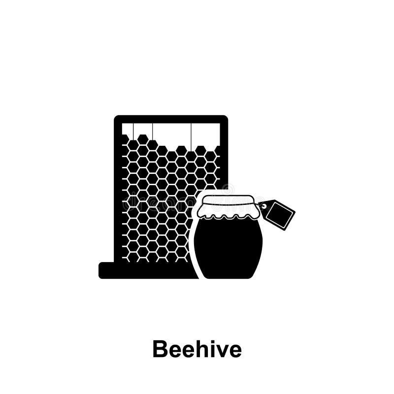 icona del barattolo del miele e del pettine Elemento dell'icona di apicoltura Icona premio di progettazione grafica di qualità Se illustrazione vettoriale