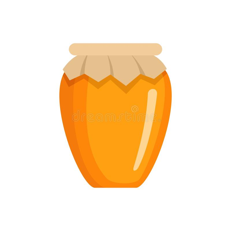 Icona del barattolo del miele, stile piano illustrazione di stock