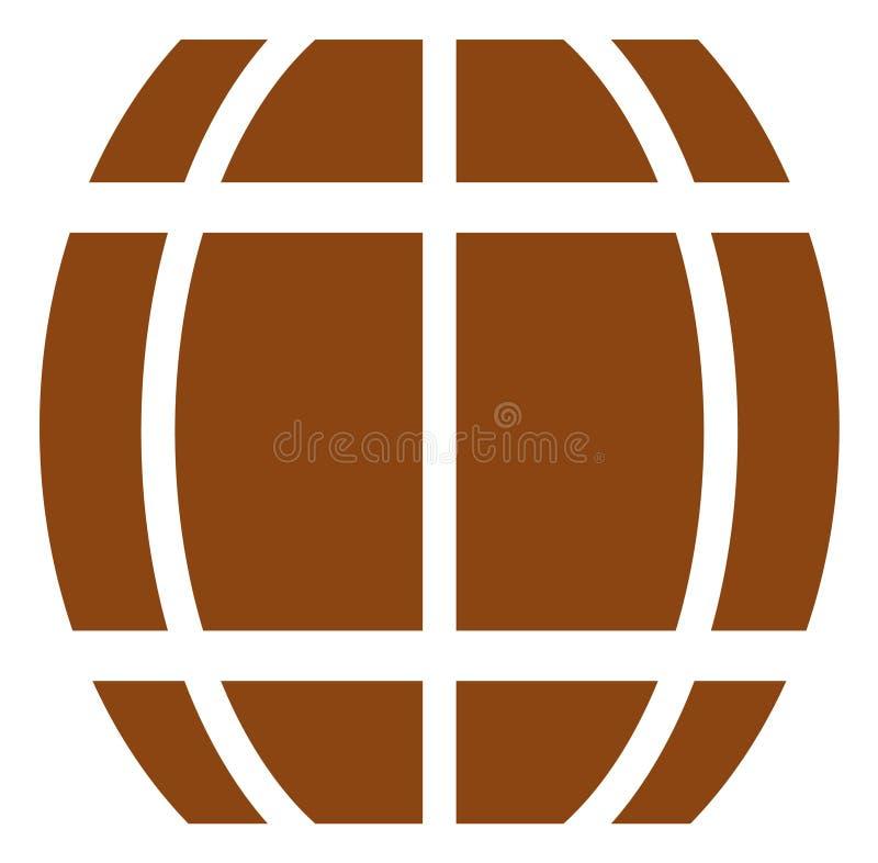 Icona del barilotto di vettore illustrazione di stock