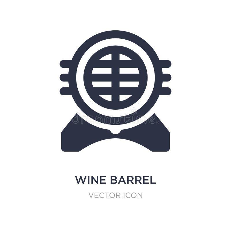 icona del barilotto di vino su fondo bianco Illustrazione semplice dell'elemento dal concetto dell'alcool royalty illustrazione gratis