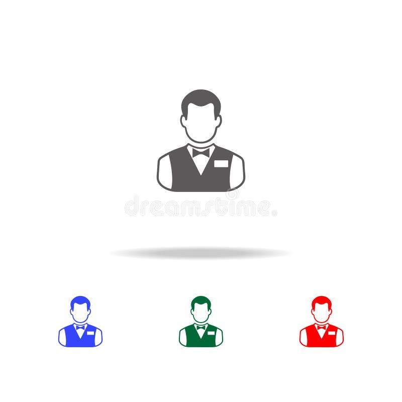 Icona del barista Elementi della discoteca ed icone colorate di vita di notte di multi Icona premio di progettazione grafica di q royalty illustrazione gratis