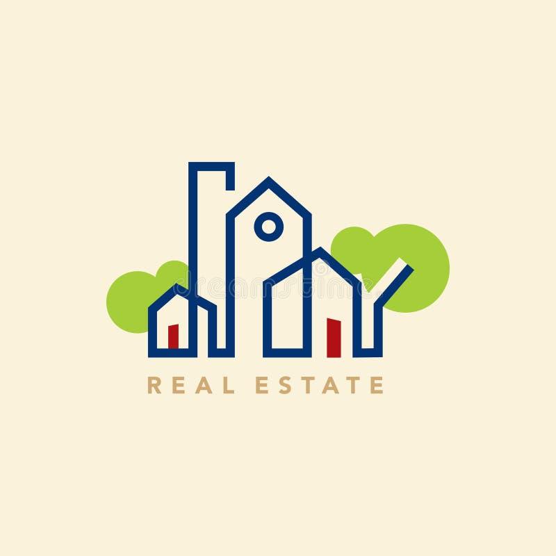 Icona del bene immobile, elemento di progettazione royalty illustrazione gratis