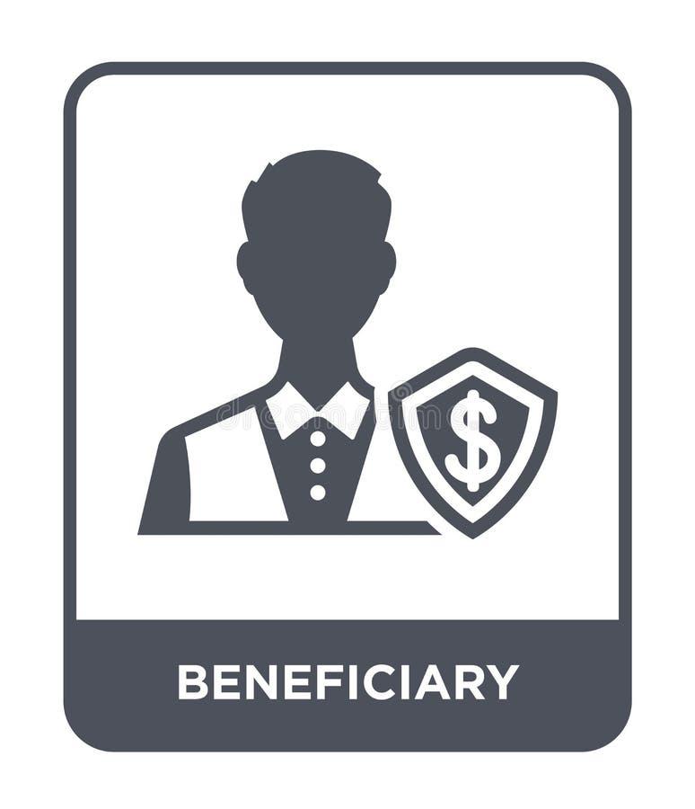 icona del beneficiario nello stile d'avanguardia di progettazione icona del beneficiario isolata su fondo bianco icona di vettore illustrazione vettoriale