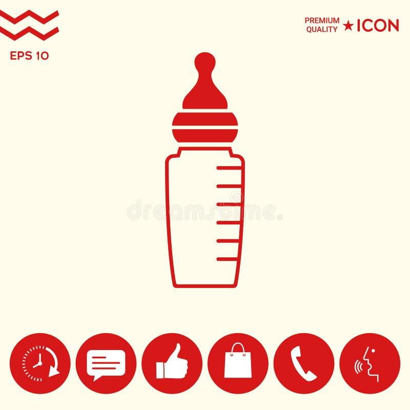 Download Icona Del Biberon Del Bambino Illustrazione Vettoriale - Illustrazione di nutrizione, simbolo: 117982140