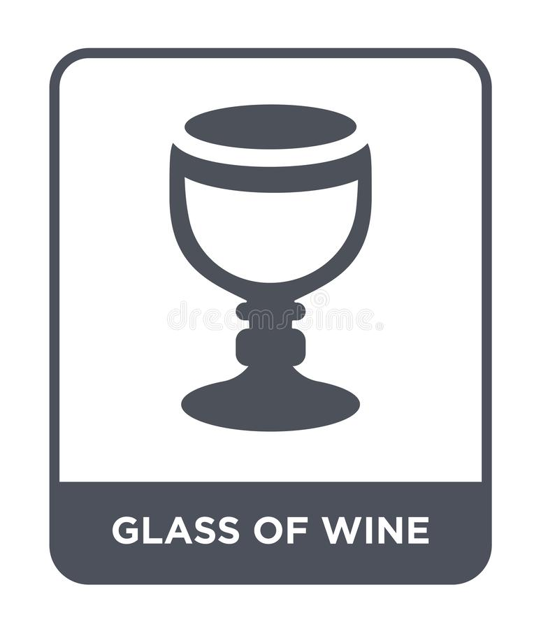 icona del bicchiere di vino nello stile d'avanguardia di progettazione icona del bicchiere di vino isolata su fondo bianco icona  illustrazione vettoriale