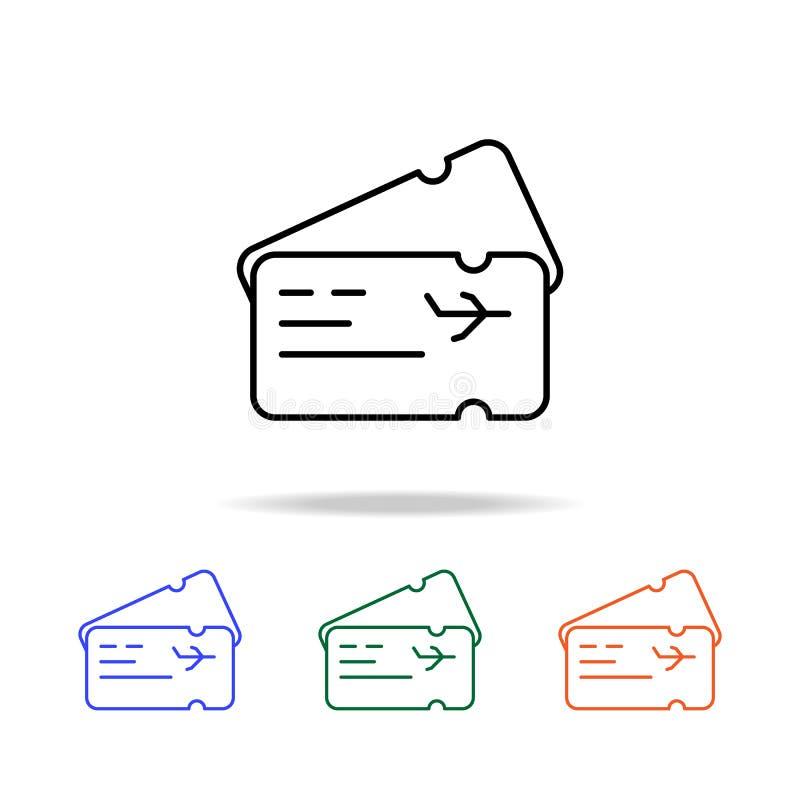 icona del biglietto di aeroplano Elementi dell'icona semplice di web nel multi colore Icona premio di progettazione grafica di qu illustrazione vettoriale