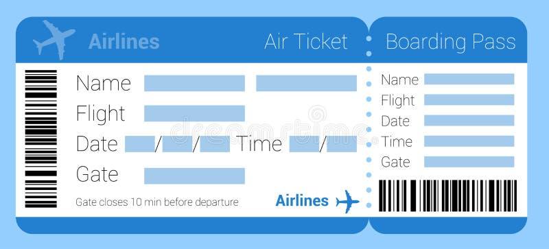 Icona del biglietto di aria illustrazione di stock