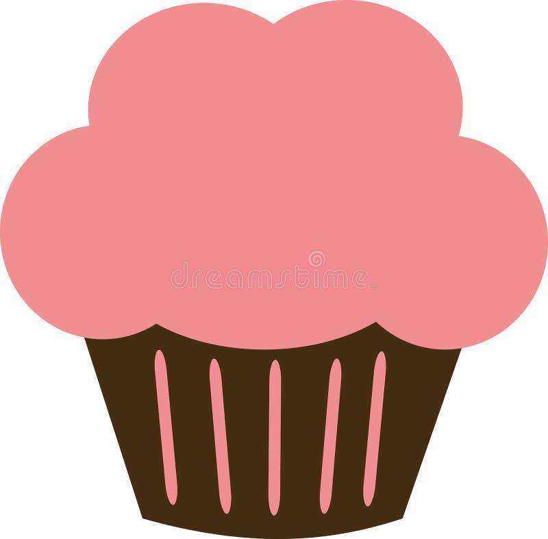 Icona del bigné con crema rosa illustrazione vettoriale