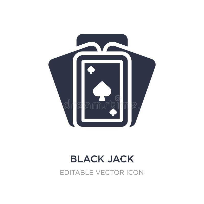 icona del black jack su fondo bianco Illustrazione semplice dell'elemento dal concetto di spettacolo illustrazione di stock