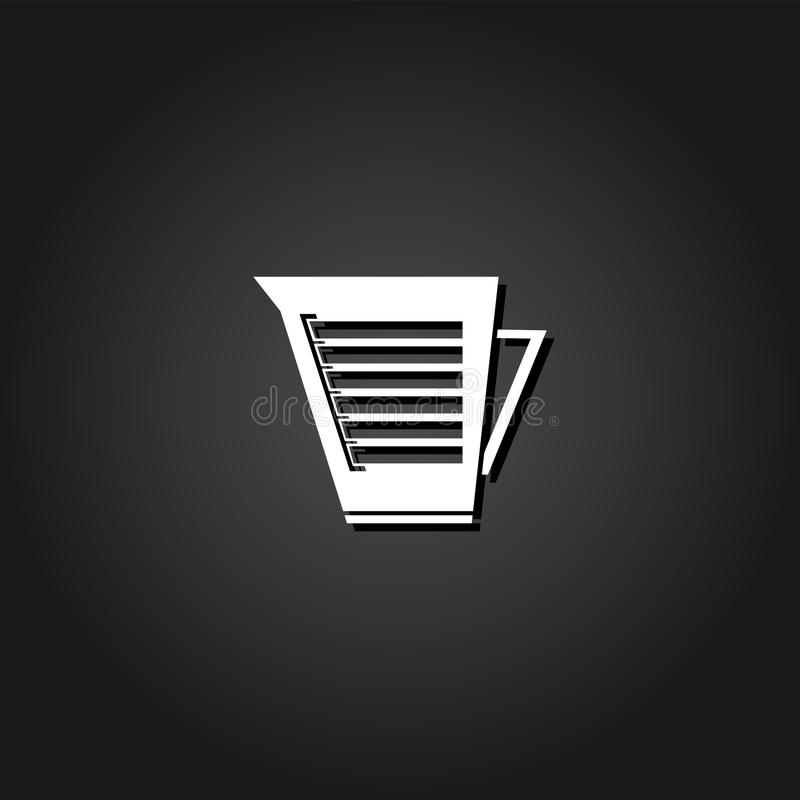 Icona del bollitore piana illustrazione vettoriale