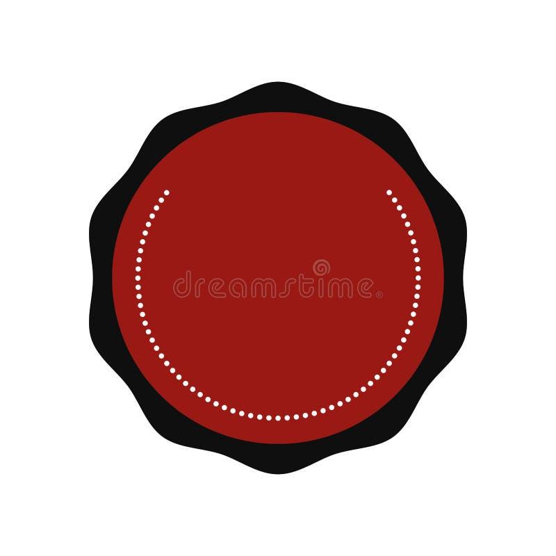 Icona del bollo della guarnizione Concetto dell'etichetta Grafico di vettore royalty illustrazione gratis