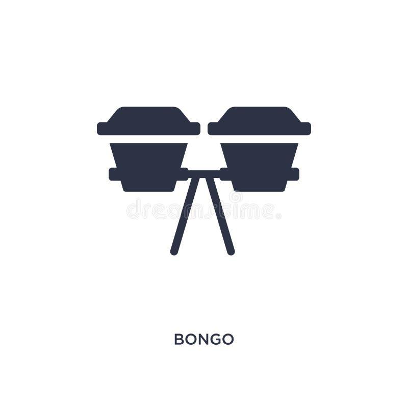 icona del bongo su fondo bianco Illustrazione semplice dell'elemento dal concetto di musica illustrazione di stock