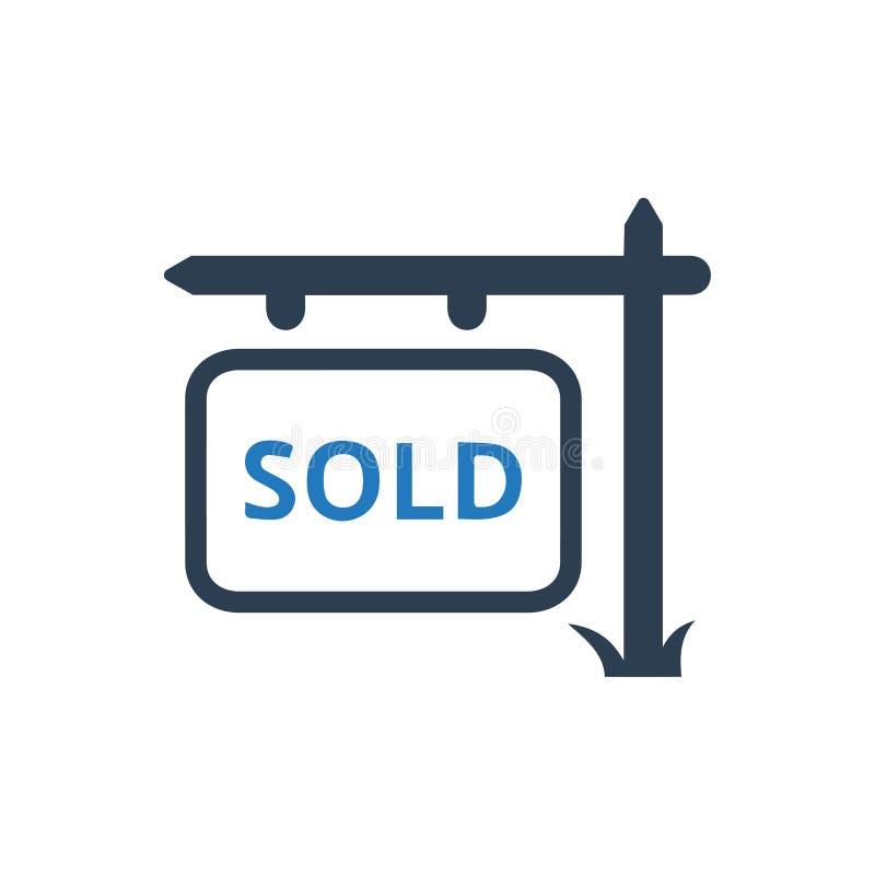 Icona del bordo del segno venduta proprietà royalty illustrazione gratis