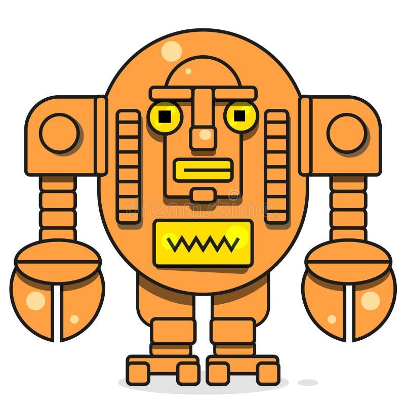 Icona del Bot Concetto dell'icona di Chatbot Robot sorridente sveglio Linea moderna illustrazione di vettore del carattere isolat royalty illustrazione gratis