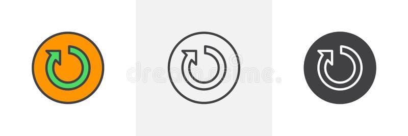 Icona del bottone di risistemazione illustrazione di stock