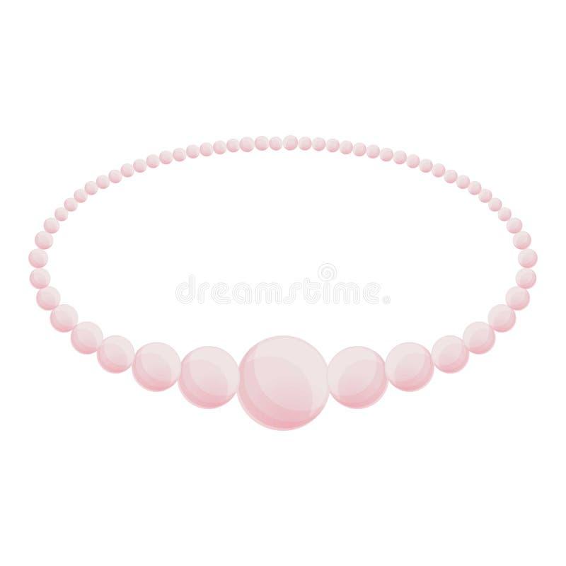Icona del braccialetto della perla, stile del fumetto illustrazione di stock