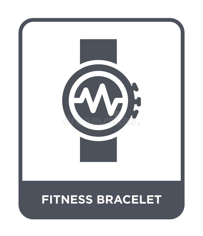 icona del braccialetto di forma fisica nello stile d'avanguardia di progettazione icona del braccialetto di forma fisica isolata  illustrazione vettoriale
