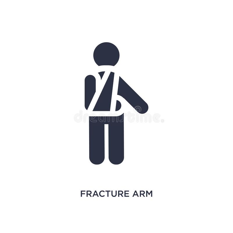 icona del braccio di frattura su fondo bianco Illustrazione semplice dell'elemento dal concetto di comportamento illustrazione vettoriale