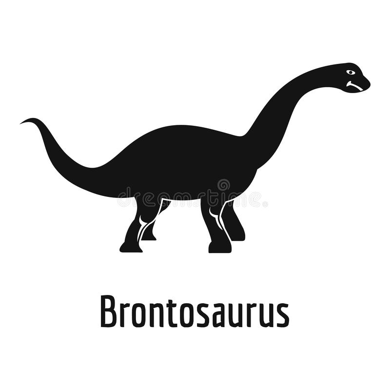 Icona del brontosauro, stile semplice illustrazione vettoriale