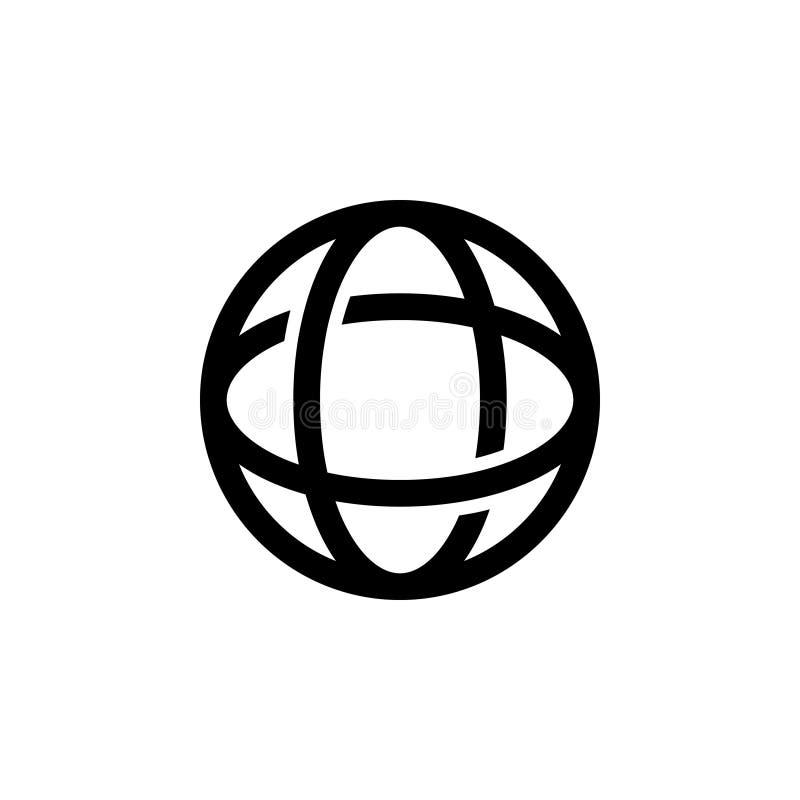 Icona del browser Web con la linea illustrazione di vettore dell'icona di stile Software di Internet royalty illustrazione gratis