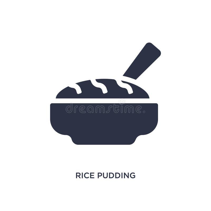 icona del budino di riso su fondo bianco Illustrazione semplice dell'elemento dal concetto della cultura illustrazione di stock