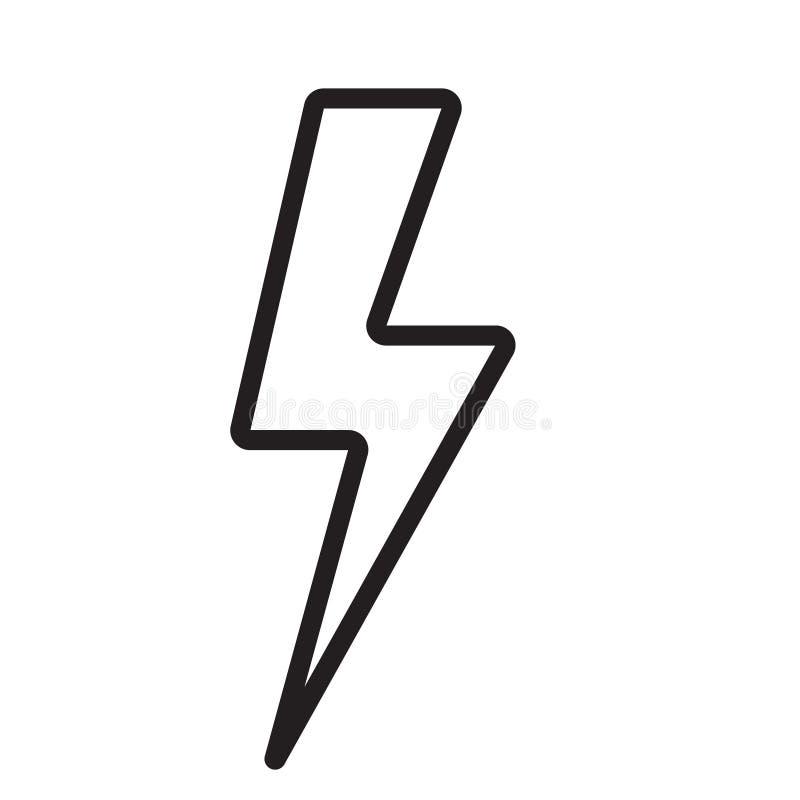 Icona del bullone di fulmine Linea moderna progettazione dell'icona Icone moderne per il cellulare o l'interfaccia di web illustrazione vettoriale
