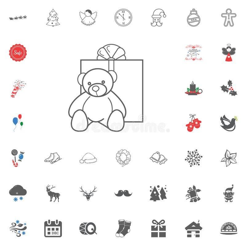 Icona del buon anno e di Buon Natale Illustrazione di vettore illustrazione vettoriale