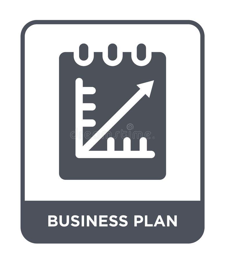 icona del business plan nello stile d'avanguardia di progettazione icona del business plan isolata su fondo bianco icona di vetto royalty illustrazione gratis