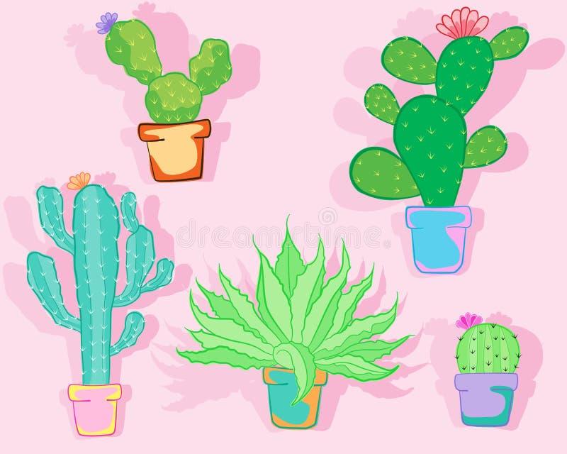 Icona del cactus immagine stock