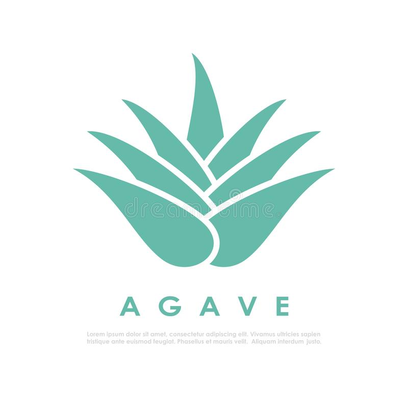 Icona del cactus dell'agave illustrazione vettoriale