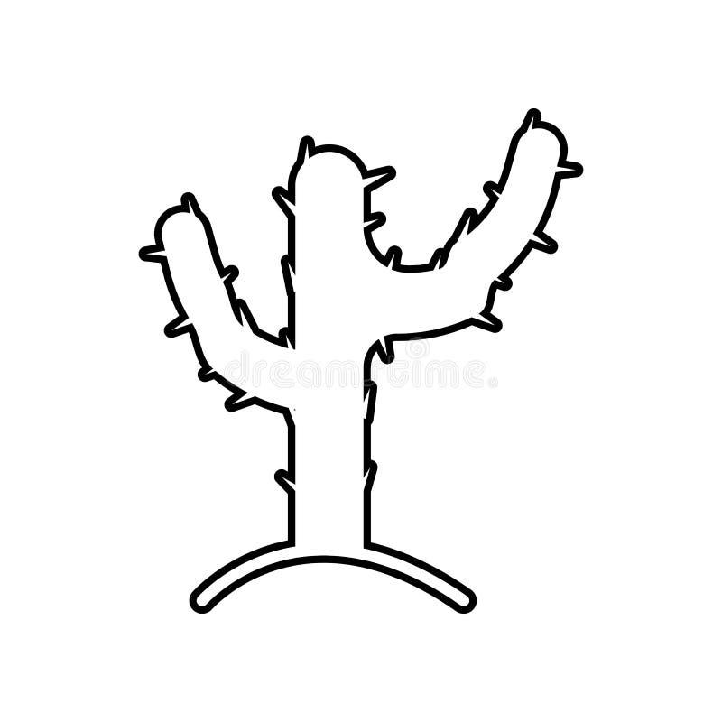 Icona del cactus Elemento del Messico per il concetto e l'icona mobili dei apps di web Profilo, linea sottile icona per progettaz royalty illustrazione gratis