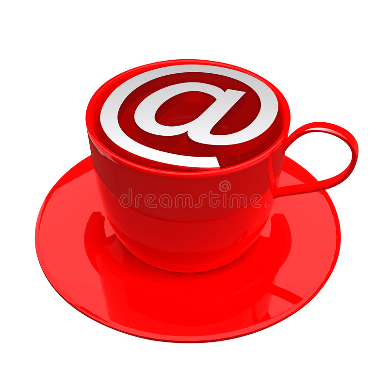 Icona del caffè del Internet illustrazione di stock