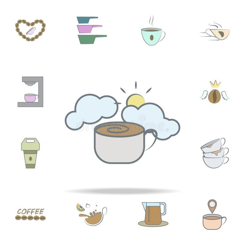 Icona del caffè di mattina insieme universale delle icone del caffè per il web ed il cellulare illustrazione di stock