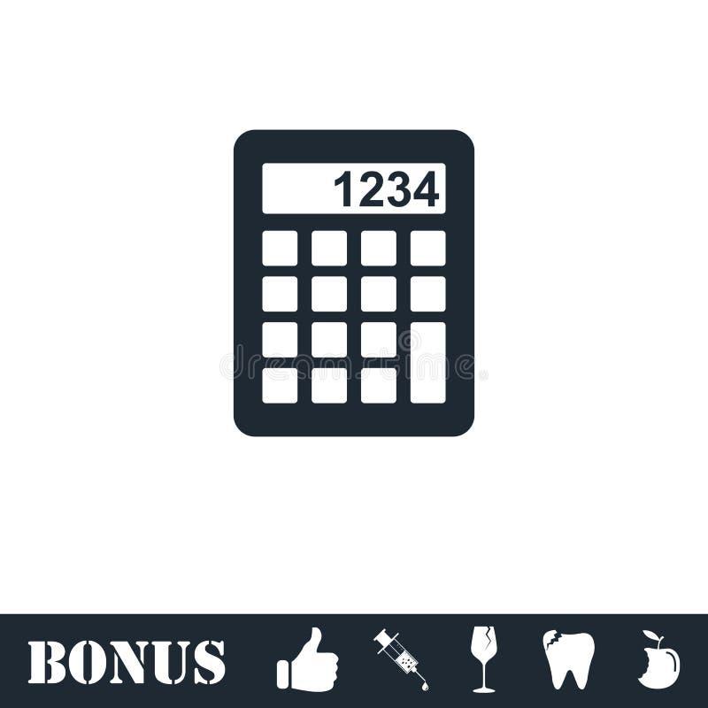 Icona del calcolatore piana royalty illustrazione gratis