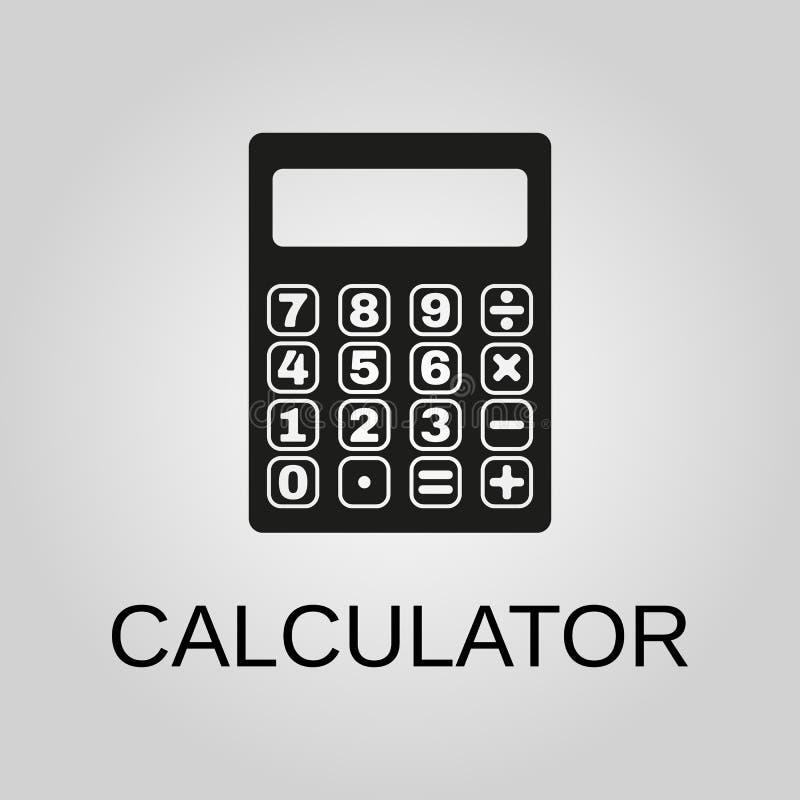 Icona del calcolatore Simbolo del calcolatore Progettazione piana Azione - illustrazione di vettore illustrazione vettoriale