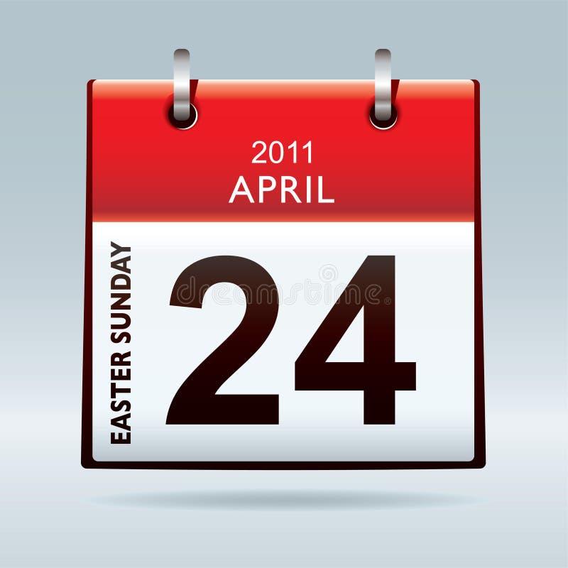 Icona del calendario di pasqua domenica illustrazione vettoriale