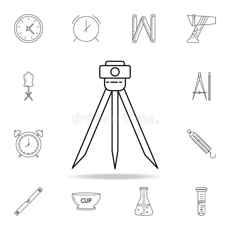 icona del calibro del terreno Insieme dettagliato delle icone degli strumenti di misura Progettazione grafica premio Una delle ic illustrazione di stock