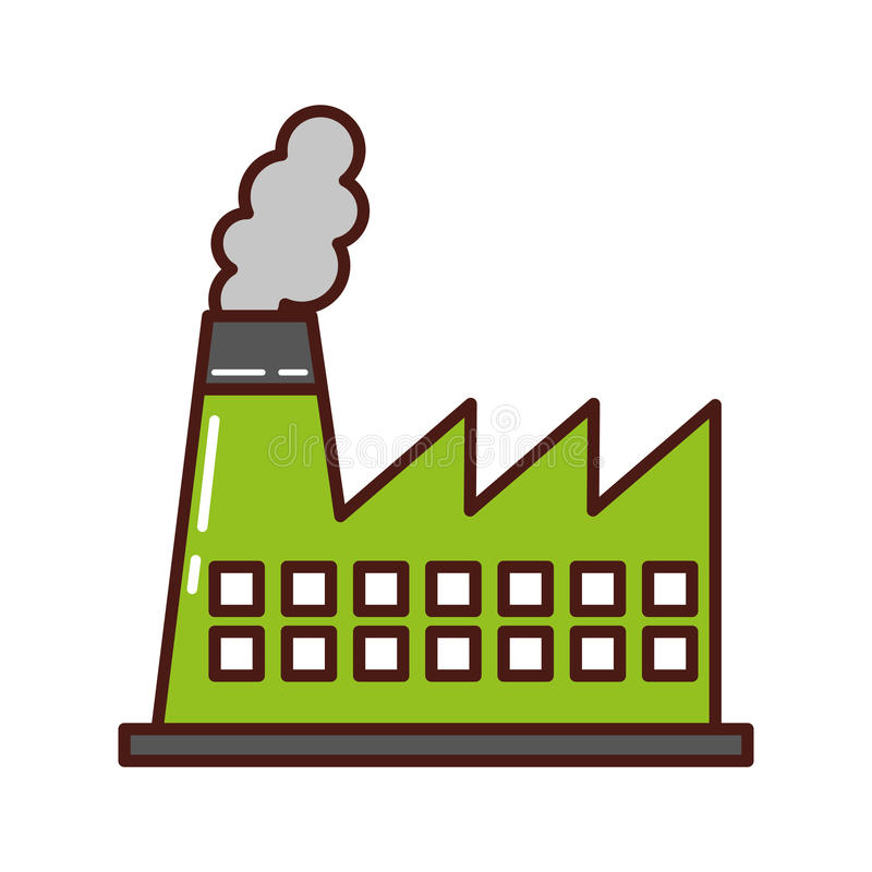 Icona del camino di industria della fabbrica royalty illustrazione gratis