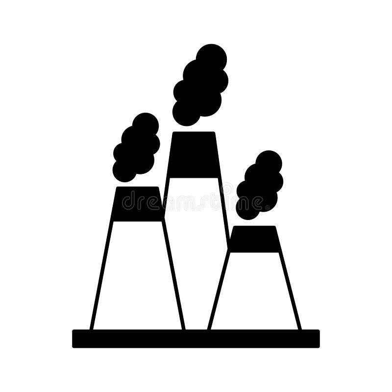 Icona del camino di industria della fabbrica illustrazione vettoriale