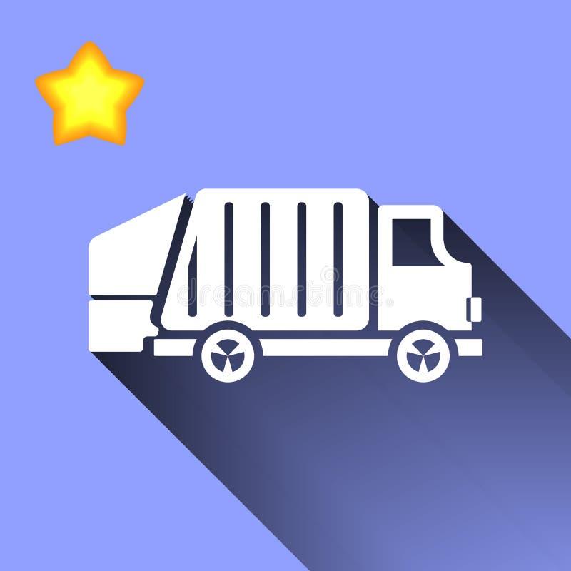 Icona del camion di immondizia illustrazione vettoriale