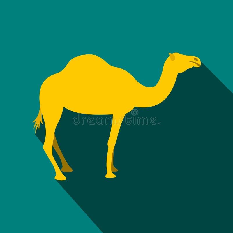 Icona del cammello, stile piano illustrazione vettoriale