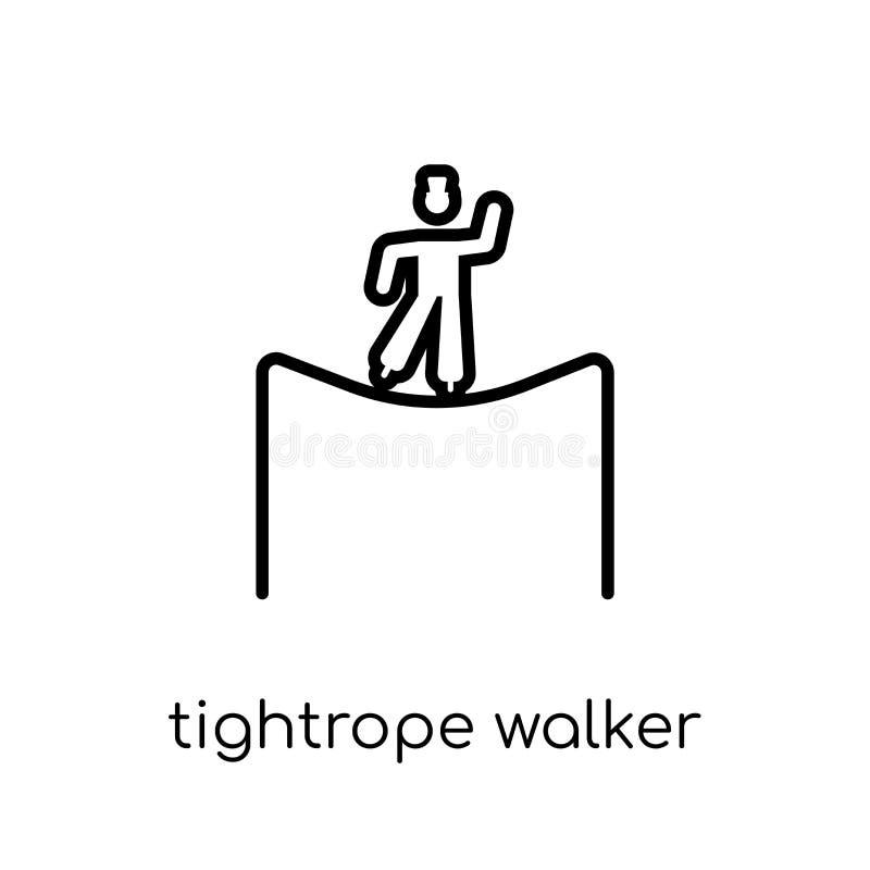 Icona del camminatore di Tightrope dalla raccolta del circo illustrazione di stock