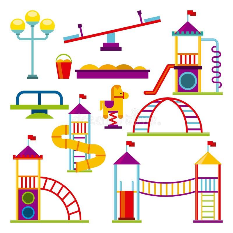 Icona del campo da giuoco dei bei bambini illustrazione di stock