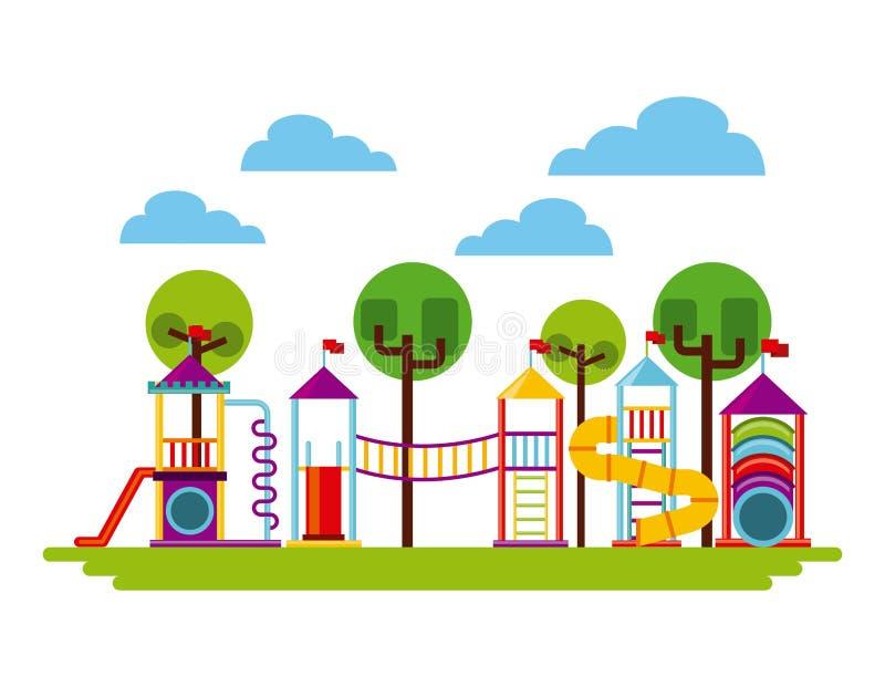 Icona del campo da giuoco dei bei bambini illustrazione vettoriale