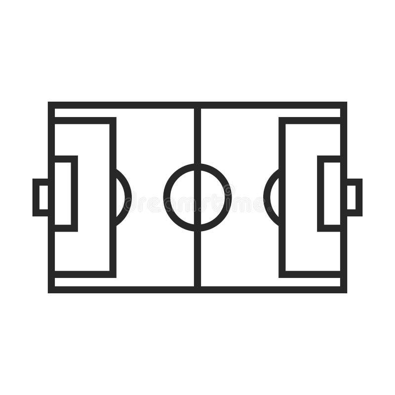 Icona del campo di calcio illustrazione vettoriale