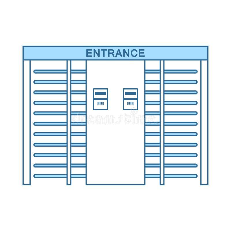 Icona del cancello girevole dell'entrata dello stadio illustrazione vettoriale