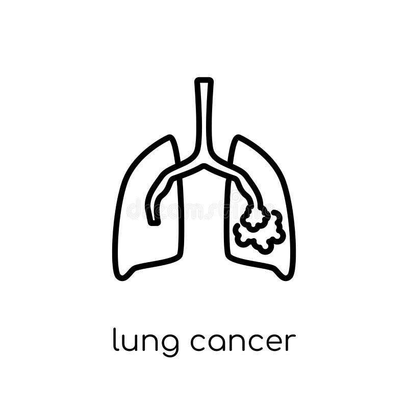 Icona del cancro polmonare  illustrazione vettoriale