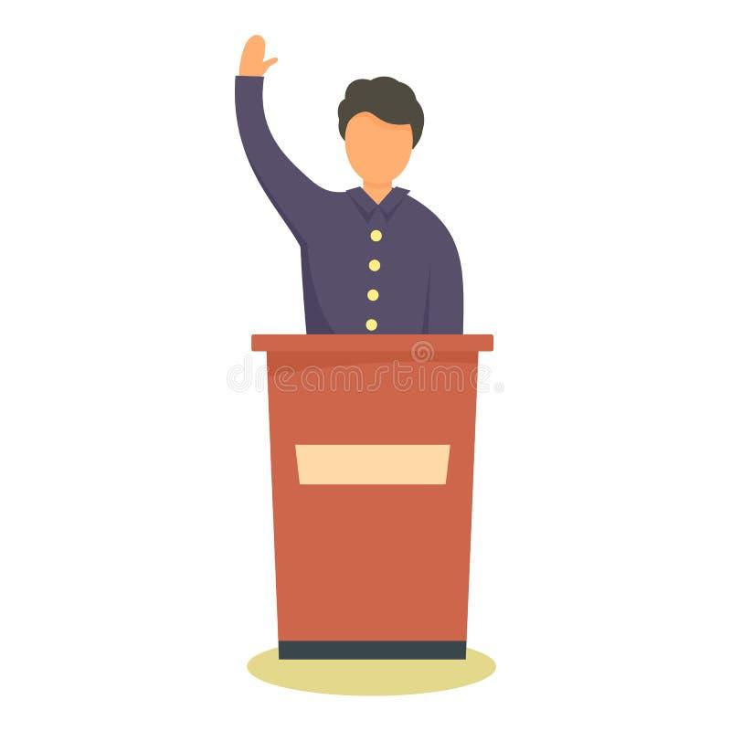 Icona del candidato politico, stile piano illustrazione di stock