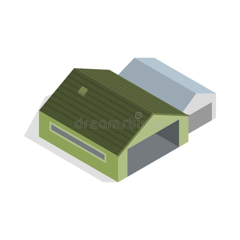 Icona del capannone stile isometrico 3d illustrazione for Capannone in stile